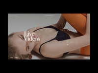 Free AdobeXD Fashion Influencer UI Kit Videos Page Animation