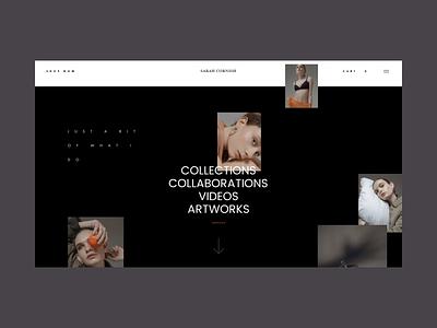 Free AdobeXD Fashion Influencer UI Kit Homepage Scroll Animation shop photo typography interaction motion promo homepage influencer scroll website interface grid animation web ux ui adobexduikit adobexd adobe adobepartner