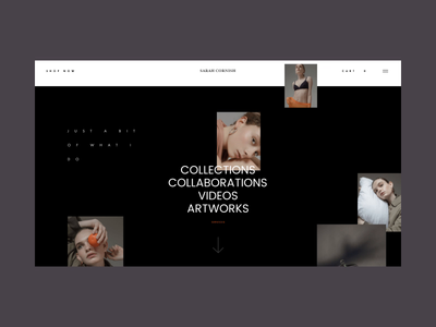 Free AdobeXD Fashion Influencer UI Kit Homepage Scroll Animation