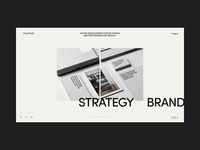 Chez Studio Homepage Animation agency branding agency art homepage photo typography interaction promo motion fashion gif design concept website grid interface animation ux web ui