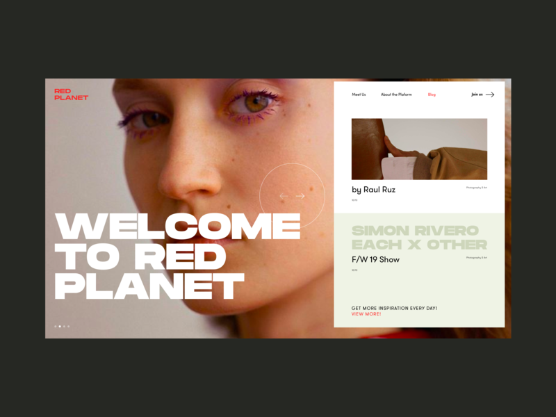 Red Planet PR Agency Blog Hover headline face model font marketing campaign corporate marketing agency pr blog hover promo design concept website interface grid web ux ui