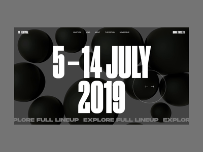 W Festival Homepage Animation lineup event cinema 4d e-commerce festival homepage typography interaction promo motion design concept website interface animation web ux ui