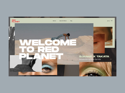 Red Planet PR Agency Homepage Animation brand aid agency shop models homepage photo typography interaction promo motion fashion design concept website grid interface animation web ux ui