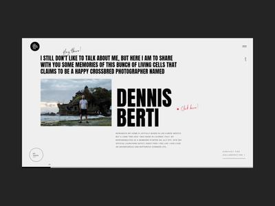 Dennis Berti Honest Visual Storyteller Bio Animation