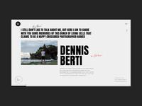 Dennis Berti Honest Visual Storyteller Bio Animation anim slider portoflio promo typography about photo motion gif interaction wedding photography design grid website interface animation web ux ui