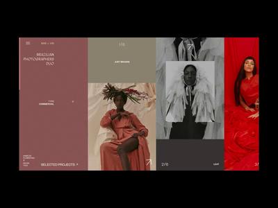 Mar + Vin Photographers Duo Hover Animation models portfolio photographer hover photo interaction typography motion fashion grid anim promo design concept website animation interface web ux ui