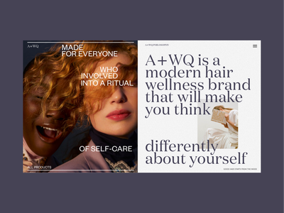 A+WQ Website About Page blog homepage models fashion art typography photo webdesign model grid promo design concept website typeface type interface web ux ui