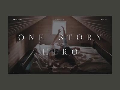 Rafal Bojar One Story Hero Promo Website Animation website web video uiux typography responsive promo inteerface interaction grid