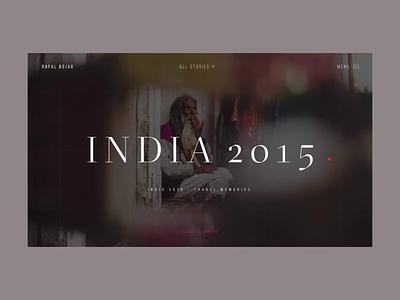Rafal Bojar One Story Hero India Story Animation grid interaction interface promo responsive typography uiux video web website