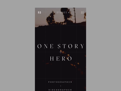 Rafal Bojar One Story Hero Mobile Website Animation grid interaction interface promo responsive typography uiux video web website