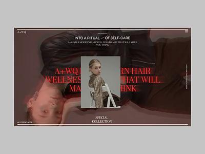 A+WQ Website Special Collection Animation e-commerce shop grid responsive video website web collection uiux
