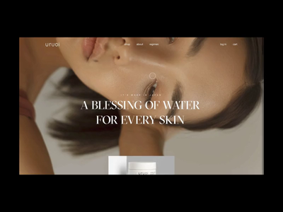 Uruoi Japanese Skincare E-commerce Website on Awwwards! homepage promo animation web e-commerce website interface video website e-commerce e-shop cosmetics skincare japan