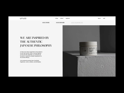 Uruoi Japanese Skincare E-commerce Website Ingredients Page