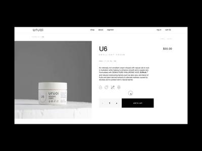 Uruoi Japanese Skincare E-commerce Website Product Page