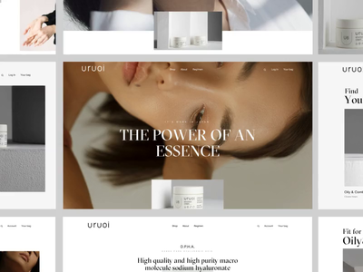 Uruoi Japanese Skincare E-commerce Website SOTD on Awwwards