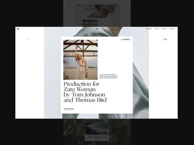 M. Fashion Platform Homepage Scroll Animation