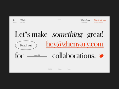 My Folio '19 Contact Page on AWWWARDS