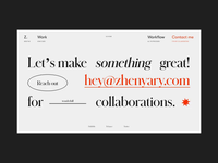 My Folio '19 Contact Page on AWWWARDS and FWA