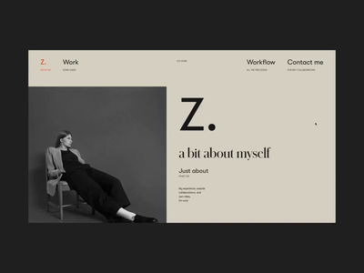 My Folio '19 About Page on AWWWARDS and FWA ux ui typography website video web folio promotion motion about
