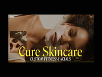 Cure Skincare Slider Animation