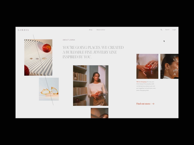 Limnia Fine Jewelry Homepage Animation on AWWWARDS jewelry eshop ecommerce typography motion concept promo interaction animation video website web ux ui
