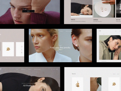 Limnia Fine Jewelry Animation video jewelry eshop ecommerce typography interface grid animation website web ux ui