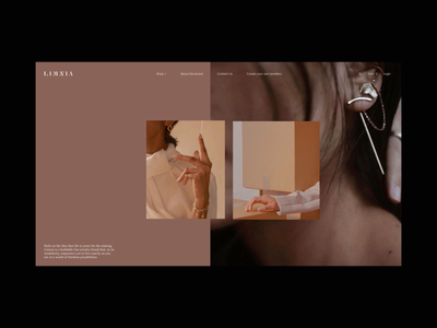 Limnia Fine Jewelry Animation motion design promo typography video interface ux website web ui