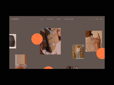 Limnia Fine Jewelry Animation promo typography animation interface interaction video website web ux ui