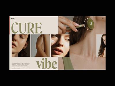 Cure Skincare Slider Animation slider promo video website web ux ui