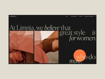 Limnia About Page Animation eshop ecommerce typography interaction promo animation video website web ux ui