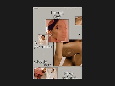 Limnia Club Page promo website web ux ui