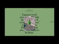 M. Editorial Website Hover Animation