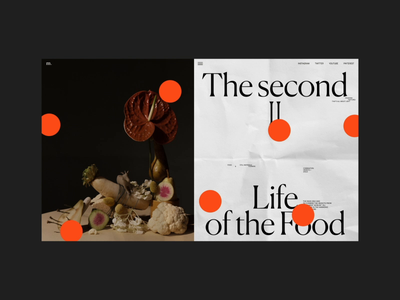Second life of the food longread Animation fashion stilllife typography interaction promo interface video website web ux ui
