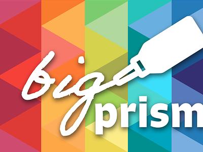 Big Prismatic icon typography branding logo design