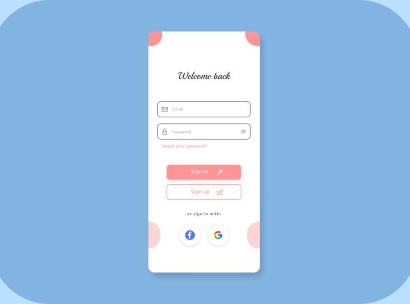 Sign in Screen figma icon design ui