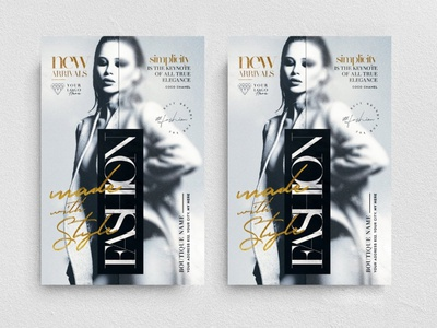 Fashion With Style Flyer Template event party fashion elegant new collection chic glamour boutique night club promotion