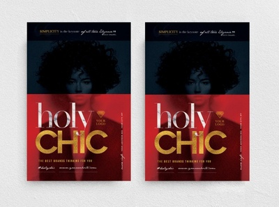 Holy Chic Flyer Template glamour party promotion fashion boutique night club
