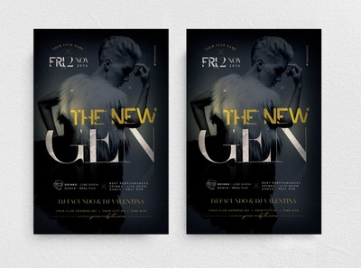 The New Gen Flyer Template chic glamour promo elegant new collection marketing boutique fashion night club party
