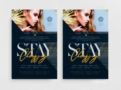 Stay Classy Flyer Template design fest new collection promotion party night club chic glamour fashion boutique