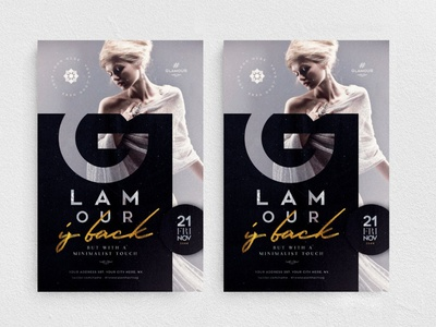 Glamour Is Back Flyer Template festival new collection chic elegant glamour fashion boutique night club party promotion