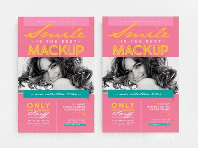 Smile Is The Best Mackup Flyer promo elegant design new collection chic glamour party night club fashion boutique