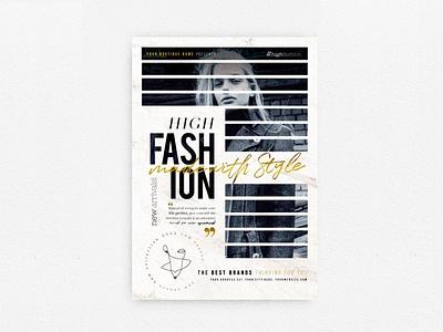 High Fashion Flyer new collection elegant fest marketing boutique night club chic glamour fashion promotion