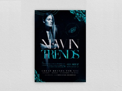 New In Trends Flyer event promotion elegant boutique new collection chic glamour night club fashion party