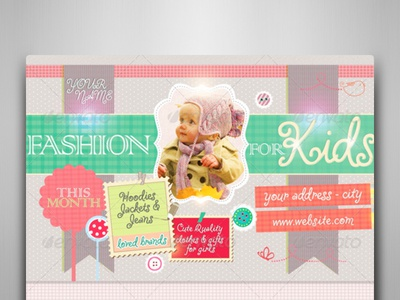 Fashion For Kids Flyer Template By Touringxx Dribbble