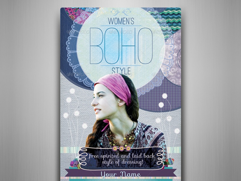 Women´s Boho Style Flyer Template by Touringxx on Dribbble