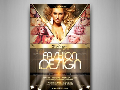 Fashion Design Flyer Template by touringxx Dribbble – Fashion Design Brochure Template