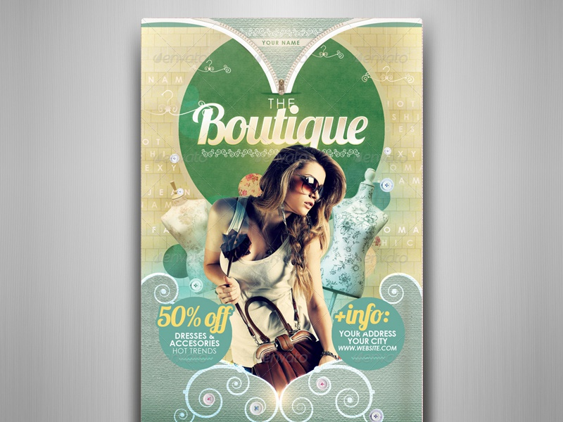 The Boutique Flyer Template By Touringxx Dribbble Dribbble