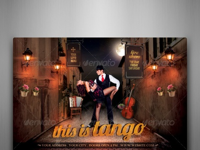 This Is Tango Flyer Template