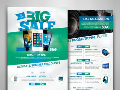 Product Catalog Flyer Template  Front  Back By Touringxx  Dribbble