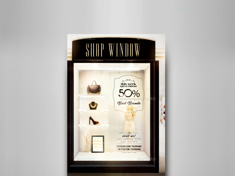 shop window flyer template by touringxx dribbble dribbble